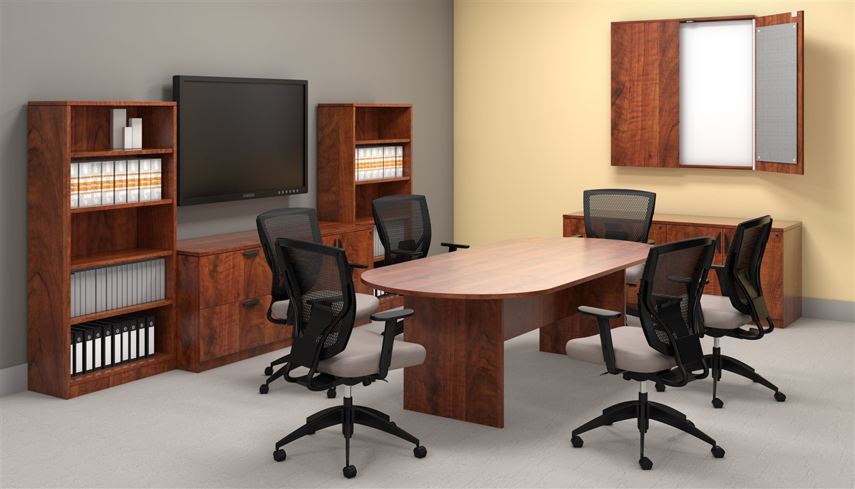Offices To Go OTG Desk Made In American Dark Cherry ADC At Boca Office Furnit