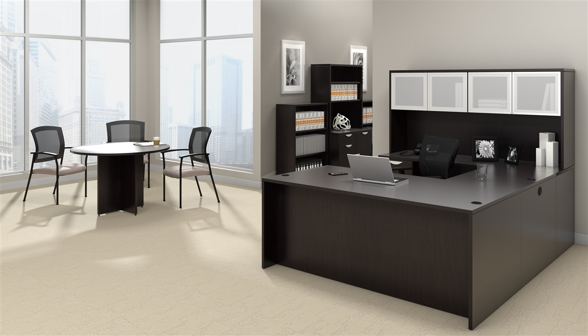 Offices To Go Otg Desk Made In American Espresso Ael At
