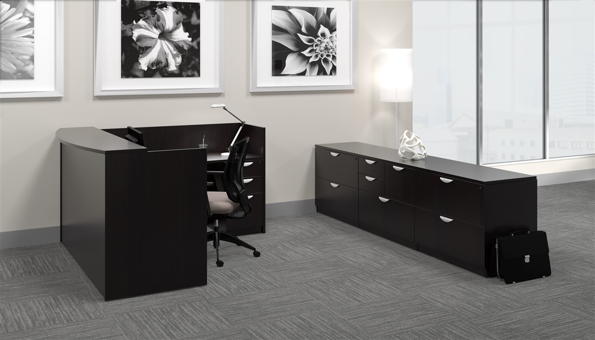 Contemporary Cappuccino Connect It Computer: Offices To Go OTG Desk Made In American Espresso AEL At
