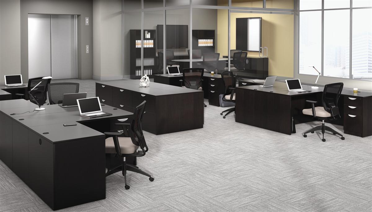 Offices To Go OTG Desk made in American Espresso AEL at Boca ...