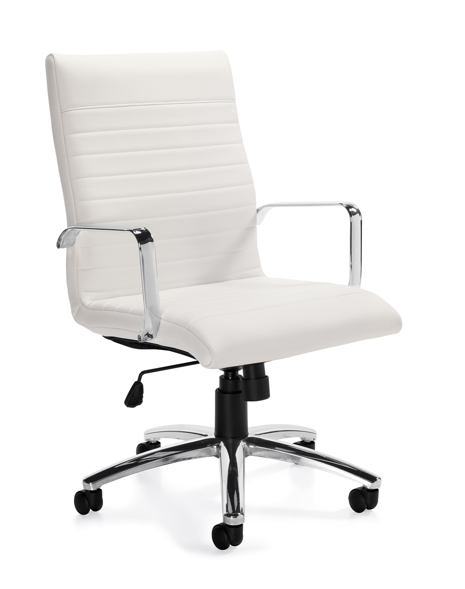 Modern White Office Chairs Offices To Go OTG11730 in the Boca