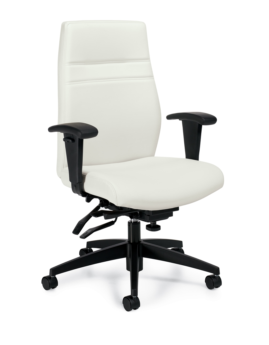 Offices To Go Otg2913 White Ergonomic Executive Office Chairs