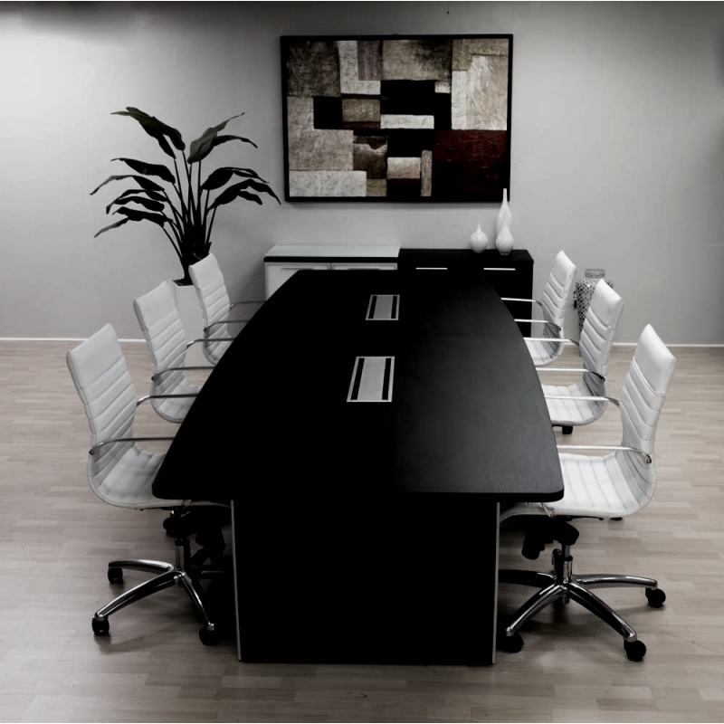 Potenza Modern Conference Room Tables In Espresso Or Cherry Wood Finish - Espresso conference table