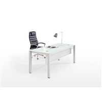 White Glass Desks