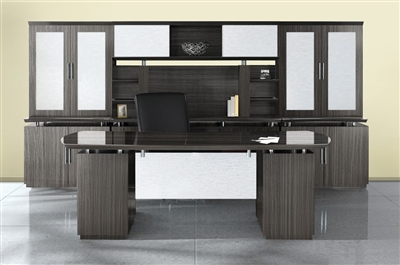 mayline sterling office furniture desks in mocha  brown Adjustable Cart Mayline Office Furniture Mayline Desk