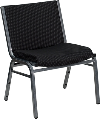 HERCULES SERIES 1000 LB. CAPACITY BIG AND TALL EXTRA WIDE BLACK FABRIC STACK CHAIR