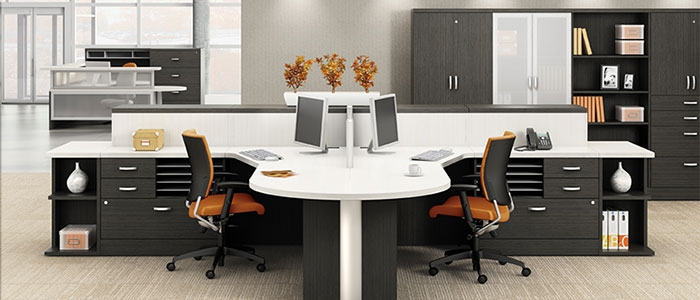 Zira L Shaped Desks By Global From Boca Raton Office
