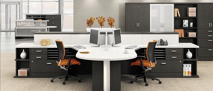 Zira L Shaped Desks By Global From Boca Raton Office Furniture