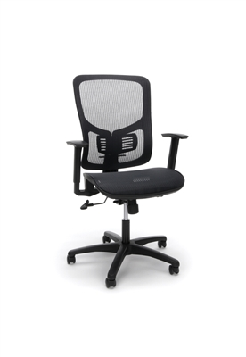 MESH SEAT ERGONOMIC OFFICE CHAIR WITH ARMS AND LUMBAR SUPPORT