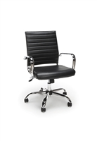 RIBBED LEATHER EXECUTIVE CHAIR