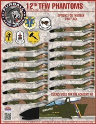 1/48 F-4C 12th Tactical Fighter Wing Phantoms