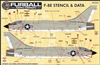 1/48 F-8 Crusader Stencils and Data