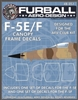 1/48 F-5E/F Canopy Seals for the AFV Club Kit