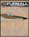 1/48 F-105D/F/G Tan Canopy Seals
