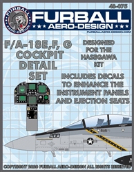 1/48 F-18E,F,G Cockpit Detail Set