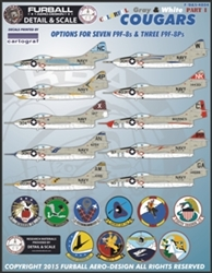 1/48  Colorful Gray & White F9F-8 Cougars