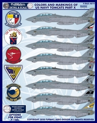 1/48 Colors & Markings of US Navy F-14s PT 10