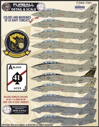 1/72 USN F-14 Tomcats Colors & Markings Part I