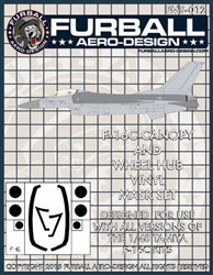 1/48 F-16C Vinyl Mask Set for the Tamiya Kit