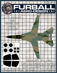 1/48 F-111 Vinyl Mask Set for the Academy Kit