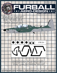 1/48 EMB-314 Vinyl Mask Set for the Hobby Boss Kit