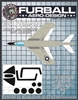 (FMS-018) Canopy and Wheel Hub Masks for the 1/48 Hobbyboss F3H-2 Demon kit