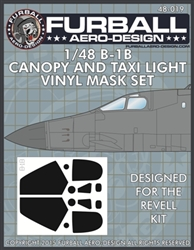 1/48 B-1B Vinyl Mask Set for theRevell Kit