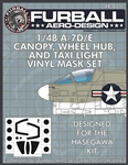 1/48 A-7D/E Vinyl Mask Set for the Hasegawa Kit