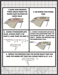 1/48 F-14 Tail Reinforcement Plates