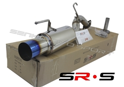 SRS Mitsubishi Lancer DS ES GT 12-16 Burnt Tip Axleback exhaust system
