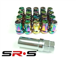 SRS TUNER LUG NUTS NEO CHROME