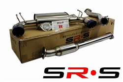 SRS Mitsubishi EVO X TYPE-RE Burned Tip Catback Exhaust System