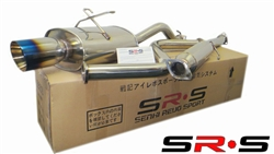 SRS Honda Civic 92-00 2/4DR EX BURNED TIP catback exhaust system TYPE RE