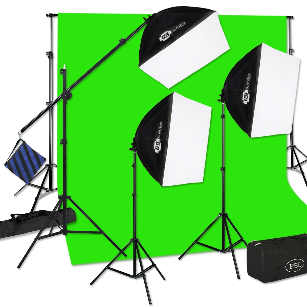 Larger Photo Email A Friend  sc 1 st  JensenBest Photographic Studio Lighting & CONTINUOUS THREE LIGHT PBL E-Z SOFTBOX BOOM KIT FOR PHOTO/VIDEO LIGHTING