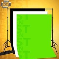 PBL Backdrop Support With 6 x 9ft Black, White And Green Chroma-Key Backgrounds