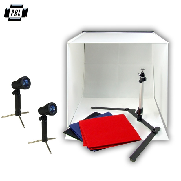 Portable Product Photo Light Tent Kit With Halogen Lights