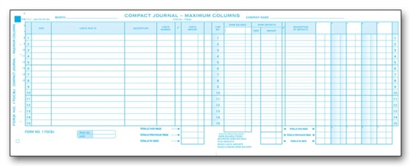 Compact Cash Disbursement Journal