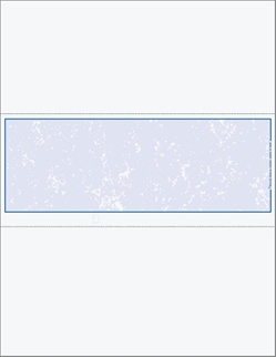 "Blank Middle Position Marble Background Check Stock - Perfs at 3.5"", 7.0"""