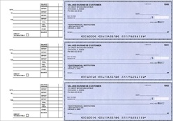 Business Size 3 to a page Accounts Payable Checks