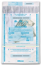 "10"" x 15 3/4"" Vertical Twin Pocket-Clear Deposit Bag"