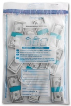 "15"" x 20"" Single Pocket-Clear Deposit Bag"