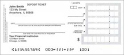 Personal Size Deposit Tickets in Pads