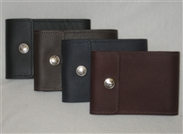 End-Stub Personal Size Leather Folding Checkbook Cover