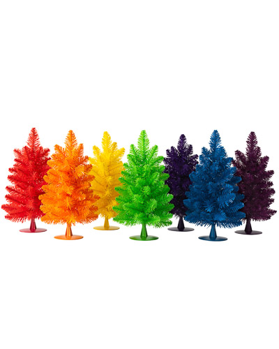 Rainbow Christmas Trees: Rainbow Gumdrop Mini Christmas Trees