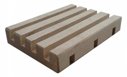 Slatted Wooden Soap Dish