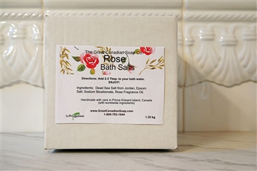 Rose Bath Salts - 1.35 kg (2.98 lbs)