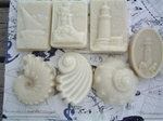 Seaside Molded Goat Milk Soap - Lavender