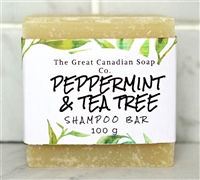 Peppermint & Tea Tree Shampoo Bar - Square 100 g