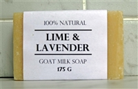 Lime & Lavender Goat Milk Soap - Large Bar 175 g