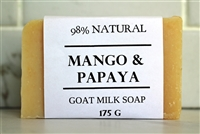 EXTRA LARGE BAR Mango & Papaya Goat Milk Soap 175g